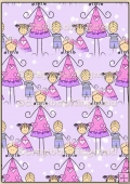 Backing Papers Single - Lilac Snow People - REF_BP_2