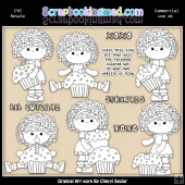 Charlottes Cup Cakes Colour Your Own ClipArt RESALE SET