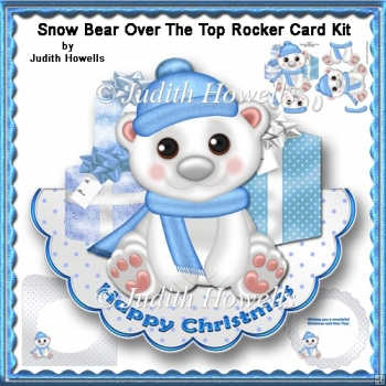 Snow Bear Over The Top Rocker Card Kit