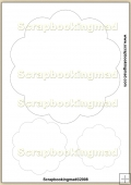 Round Frame (Number4) Template Overlay in 8 Size PDF Sheet