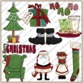 Mr & Mrs Claus ClipArt Graphic Collection