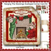 Hanging The Stockings Scalloped Corner Card Kit