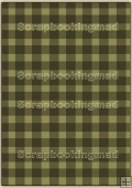 A4 Backing Papers Single - Green Gingham - REF_BP_129