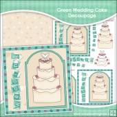 Wedding Cake In Green Decoupage Download