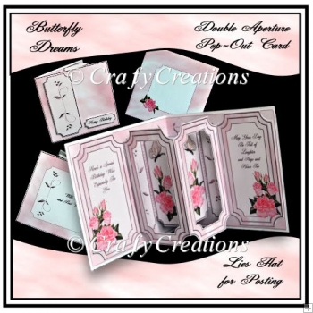 Butterfly Dreams Double Aperture Pop-Out Card