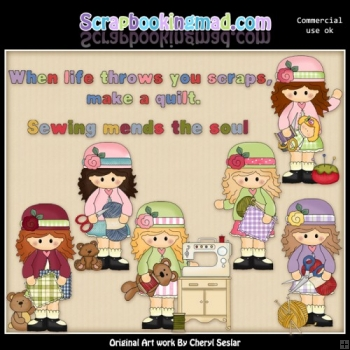 Alyssa Sewing Room ClipArt Collection
