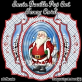 Santa Outside Double Pop Out Fancy Card