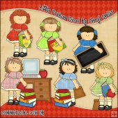 Little Punkins School ClipArt Graphic Collection