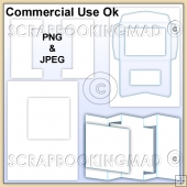 Fold Card Kit & Envelope Template Commercial Use Ok