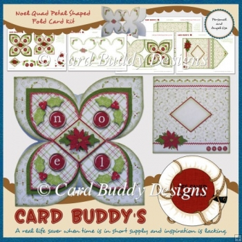 Noel Quad Petal Shaped Fold Card Kit