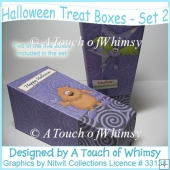 Halloween Treat Boxes - Set 2