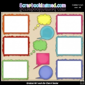 Fun Frames And Speech Bubbles