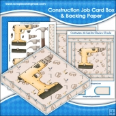 Construction Job PDF Decoupage Card Box & Backing Paper Download