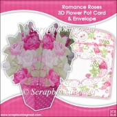 Romance Roses 3D Flower Pot & Envelope