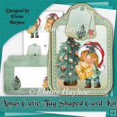 Xmas Cutie Tag Shaped Card Kit