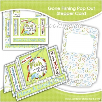 Gone Fishing Pop Out Stepper Card