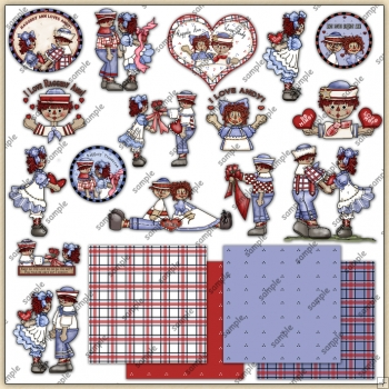 Annie Loves Andy ClipArt Graphic Collection