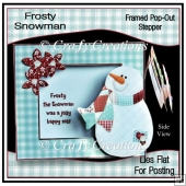 Frosty Snowman - Framed Pop-Out Stepper
