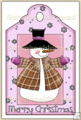 Christmas Snowman Decorative Tag - REF_T06