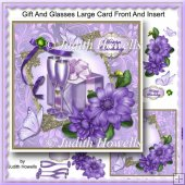 Gift And Glasses Large Card Front And Insert