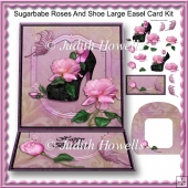 Sugarbabe Roses And Shoe Large Easel Card Kit