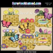 Butterfly Baskets ClipArt Collection