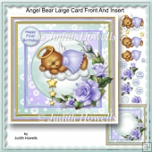 Angel Bear Large Card Front And Insert