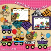Jungle Birthday ClipArt Graphic Collection