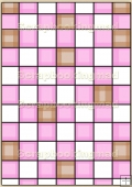 Backing Papers Single - Pink Checks - REF_BP_36