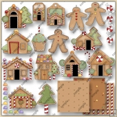 Gingerbread Lane 1 ClipArt Graphic Collection