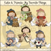 Katie and Friends My Favorite Things ClipArt Graphic Collection