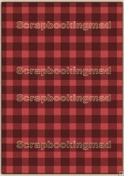A4 Backing Papers Single - Red Gingham - REF_BP_128