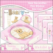 Bear Necessities Pink Window Box Card