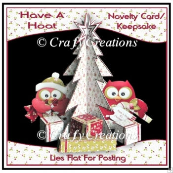 Novelty 3D Tree Card - Have a Hoot