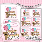Doggie Birthday Single Layer Card Toppers
