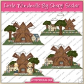 Little Windmills ClipArt Graphic Collection - REF - CS