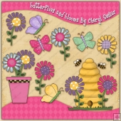 Butterflies & Blooms Graphic Collection - REF - CS