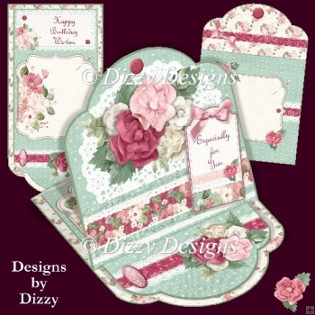 Flowers and Lace Easel Card