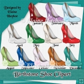 Birthstone Shoe Clipart