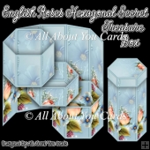 English Roses Hexagonal Secret Treasure Box