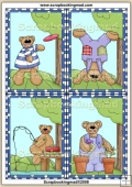 4 Beary Fun Quick Greeting Cards PDF Download