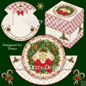 Christmas Wreath Stepper Rocker Card with Freebie Gift Box