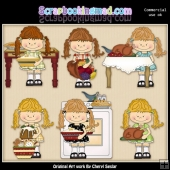 Happy Lulu Holiday Hostess ClipArt Collection