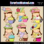 Agnus Loves Cupcakes ClipArt Collection