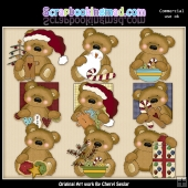 Tuffy Teddy Christmas Bears ClipArt Collection