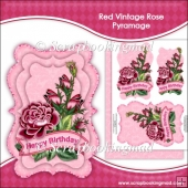 Red Vintage Rose Pyramage