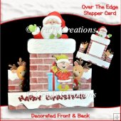 Say Hello To Santa Over The Edge Stepper Card