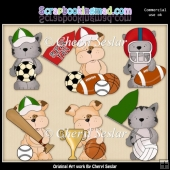 Tuff And Tiger All Stars ClipArt Collection