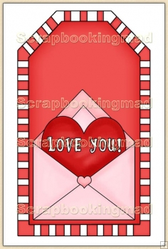 Red Valentine Tag - REF_T316