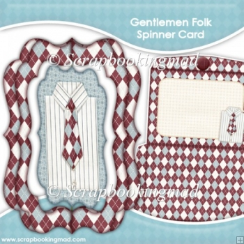 Gentlemen Folk Spinner Card & Envelope